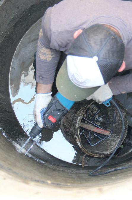 Как мы выполняем ремонт колодцев в Можайском районе